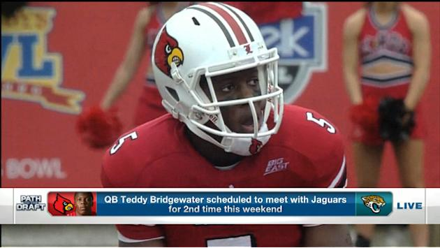 Louisville quarterback Teddy Bridgewater to the Jacksonville Jaguars?