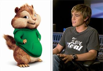 Theodore (voiced by Jesse McCartney ) in 20th Century Fox's Alvin and the Chipmunks