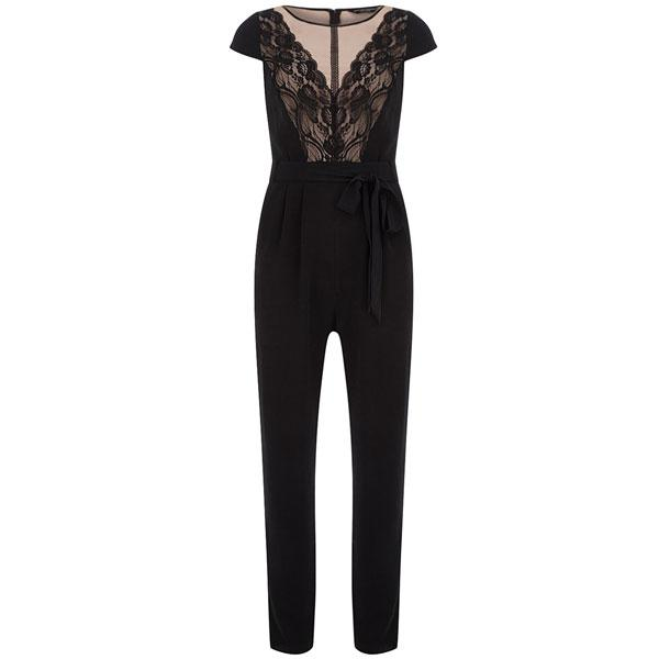 Black/blush panel jumpsuit - £45 – Dorothy Perkins