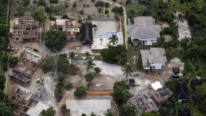 Construction site of where Germany's national soccer team will be based during the 2014 FIFA World Cup in Santo Andre