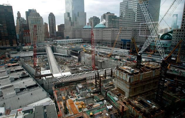 Construction Continues At Former World Trade Center Site