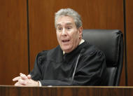 Judge Michael Pastor speaks at the sentencing hearing of Dr. Conrad Murray, who was was sentenced to the maximum four years in the death of pop star Michael Jackson, Tuesday, Nov. 29, 2011 in Superior Court in Los Angeles. (AP Photo/Mario Anzuoni, Pool)