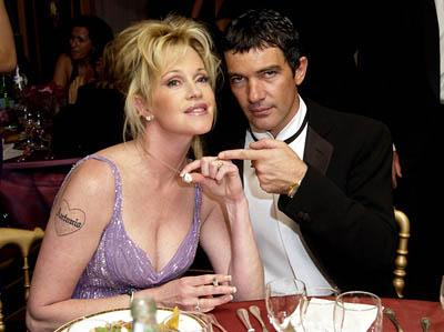 "Melanie Griffith and Antonio Banderas ""Femme Fatale"" Dinner Cannes Film Festival - 5/26/2002"