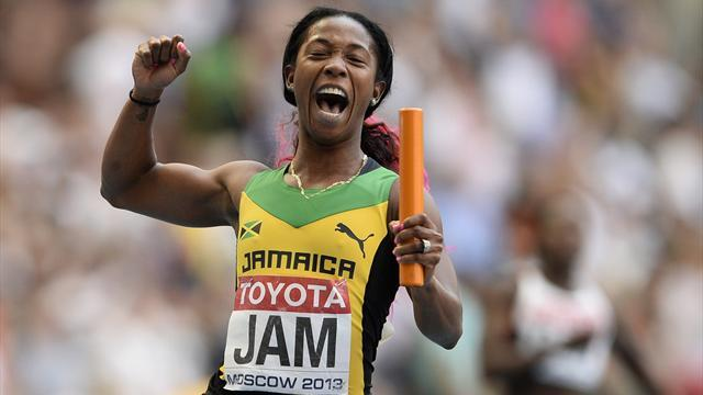 World Championships - Jamaica win women's 4x100 as US fluff lines