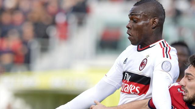 Italian Serie A - Balotelli saves Milan in Cagliari