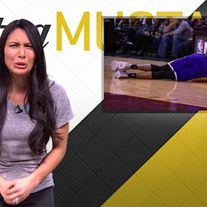 Mustard Minute: D'Angelo Russell's pain after being hit in groin is real