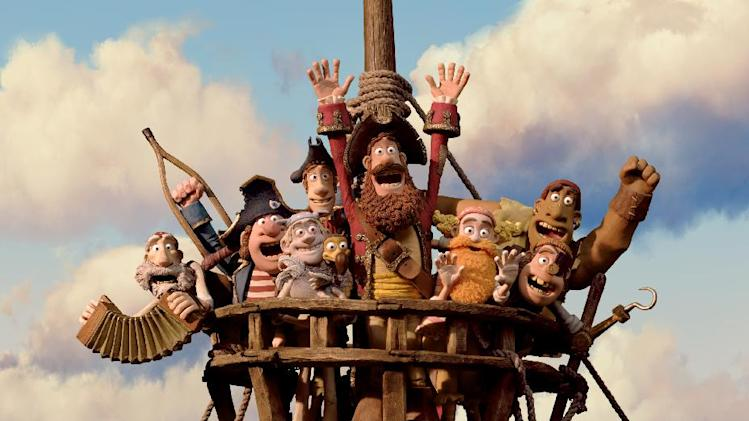 "In this film image released by Sony Pictures, the cast is shown in a scene from ""The Pirates! Band of Misfits."" (AP Photo/Aardman Animation for Sony Pictures Animation)"