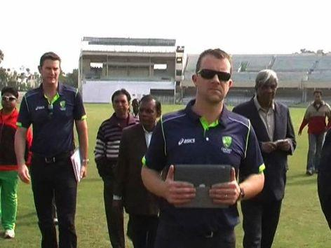 Cricket Australia officials inspect Green Park Stadium