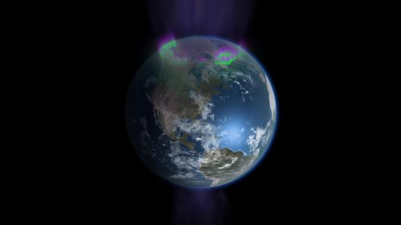 """A visualization of Earth from space as seen in the new PBS documentary """"Earth from Space"""" by NOVA."""