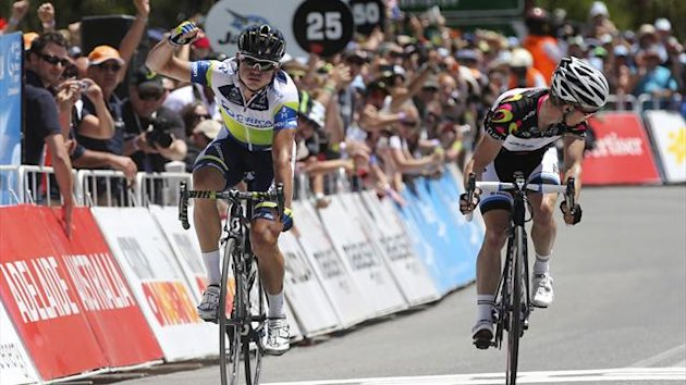 Simon Gerrans wins a Tour Down Under stage in Willunga