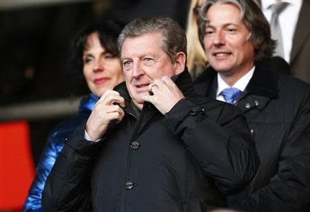 England manager Roy Hodgson arrives to watch Southampton play Liverpool during their English Premier League soccer match at St Mary's Stadium, Southampton