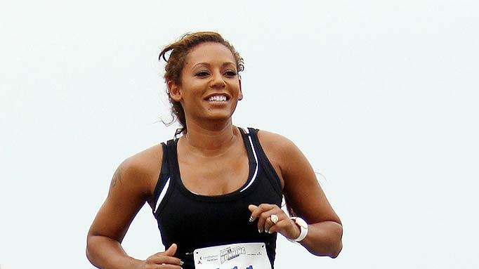 Melanie Brown Jogging