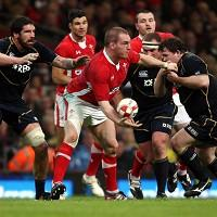 Gethin Jenkins, centre, plies his trade with RC Toulon