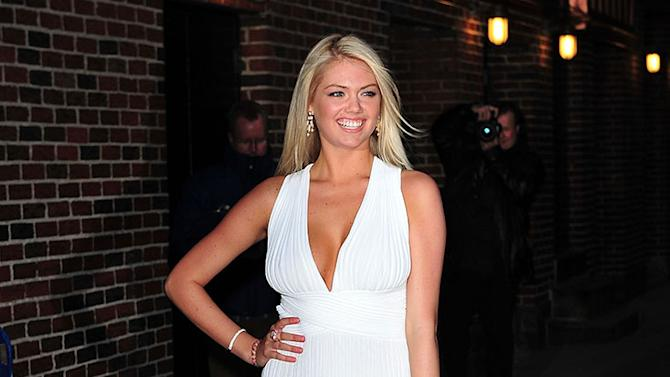 "Celebrities Visit ""Late Show With David Letterman"" - February 13, 2012: Kate Upton"