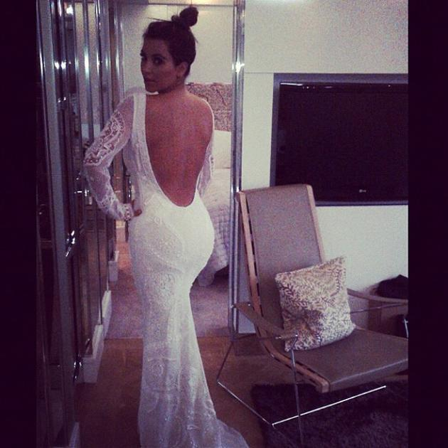 Celebrity photos: Kim Kardashian sparked marriage rumours this week after she tweeted a photo of herself wearing a wedding dress. Despite not being divorced from Kris Humphries yet, we wouldn't be sur