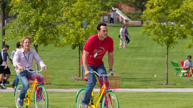 "This film publicity image released by 20th Century Fox shows Owen Wilson, left, and Vince Vaughn in a scene from ""The Internship."" (AP Photo/20th Century Fox, Phil Bray)"
