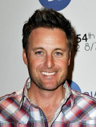 Chris Harrison poses backstage at the GRAMMYs Dial Global Radio Remotes during The 54th Annual GRAMMY Awards at Staples Center, Los Angeles, on February 10, 2012 -- WireImage