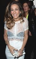 Sarah Jessica Parker sports a sheer top at the Louis Vuitton Ready-To-Wear Fall/Winter 2012 show as part of Paris Fashion Week in Paris on March 7, 2012 -- Getty Images