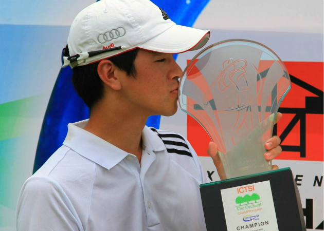 Quincy Quek won his first title as pro at the ICTSI Orchard Golf Championship held in the Philippines