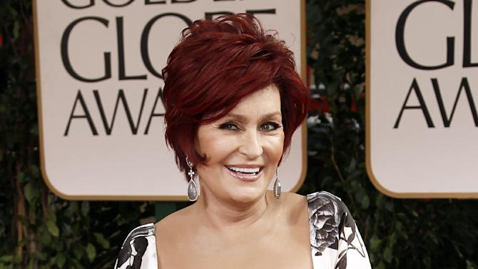 """FILE - This Jan. 15, 2012 file photo shows Sharon Osbourne at the 69th Annual Golden Globe Awards in Los Angeles. Sharon Osbourne says she had a double mastectomy after learning she carries a gene that increases the risk of developing breast cancer. Osbourne told Hello! magazine that """"I didn't want to live the rest of my life with that shadow hanging over me."""" The 60-year-old """"America's Got Talent"""" judge, who had colon cancer a decade ago, said that without the surgery, """"the odds are not in my favor."""" (AP Photo/Matt Sayles, file)"""