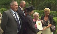 Falklands Families Receive Elizabeth Cross