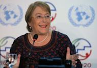 Former Chilean president and now Executive Director of UN Women Michelle Bachelet speaks at a press conference in June 2012 in Rio de Janeiro, Brazil. Alberto Bachelet, the father of Michelle Bachelet, was arrested in 1973 and court-martialed for treason for having been a member of leftist president Salvador Allende's government prior to his overthrow by Pinochet's military junta
