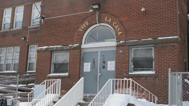 A Jan. 15, 2015 photo shows the exterior of Vive La Casa in Buffalo, N.Y. The shelter, which helps refugees seek asylum in Canada and the United States, announced it is being purchased by fellow Buffa