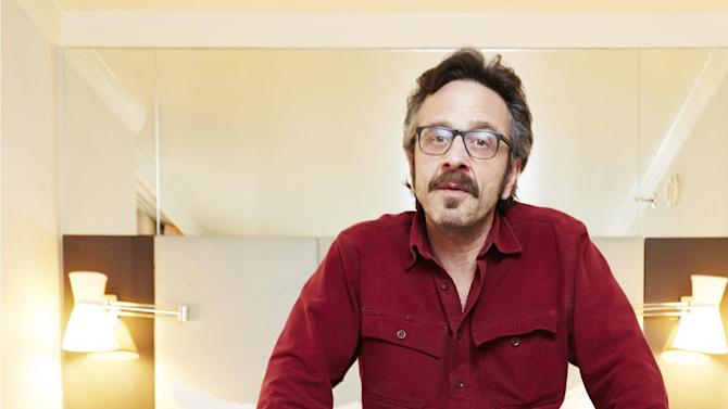 """This April 11, 2013 photo shows comedian Marc Maron in New York. Maron stars in the new IFC comedy """"Maron,"""" premiering Friday, May 3 at 10 p.m. (Photo by Dan Hallman/Invision/AP)"""