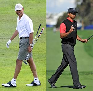 Tiger Woods Joins President Obama in Florida For a Round of Golf