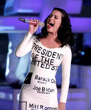 Katy Perry Warms Up Crowd for Obama