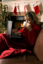 Working Remotely or Not Remotely Working for the Holidays? image working from home