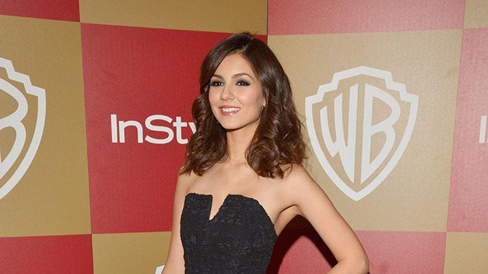 InStyle And Warner Bros. Golden Globe Party - Arrivals: Victoria Justice