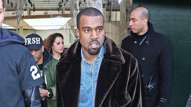 Kanye West seen at the Celine Fall-Winter 2013/2014 fashion show in Paris