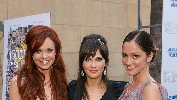 500 Days of Summer LA premiere 2009 Rachel Boston Zooey Deschanel Minka Kelly