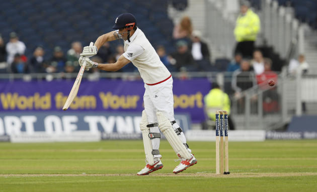 England's Alastair Cook is out for 15