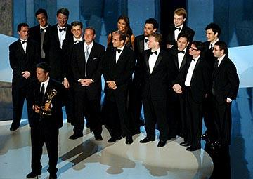 """Jon Stewart and """"The Daily Show"""" writers 55th Annual Emmy Awards - 9/21/2003"""