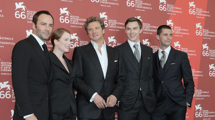 66th Annual Venice Film Festival 2009 Tom Ford Julianne Moore Colin Firth Nicholas Hoult Matthew Goode