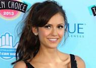 Vampire Diaries actress Nina Dobrev and Derek Hough have split after six weeks of dating. (Reuters)