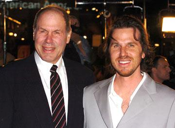 Premiere: Director Breck Eisner with his father Michael Eisner at the Hollywood premiere of Paramount Pictures' Sahara - 4/4/2005 Photos: Steve Granitz, WireImage.com Michael Eisner