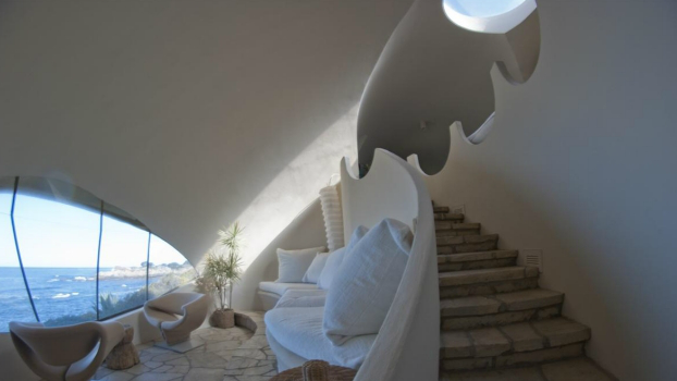 Seashell home undulates with Carmel landscape stairs