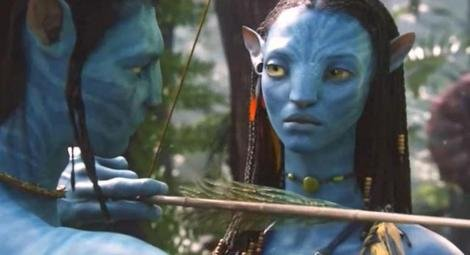 Jake and Neytiri in the original 'Avatar' movie