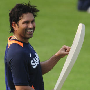 Sachin Tendulkar at the nets in Dhaka