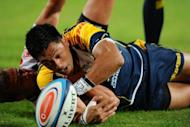 Brumbies' flyhalf Christian Lealiifano, seen here in April 2012, scored two conversions and three penalties to help his side to a 23-6 win over arch-rivals the NSW Waratahs in Canberra