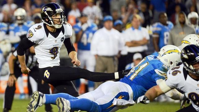 American Football - High-flying Ravens break Chargers' hearts