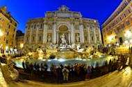 Italian fashion house Fendi on Monday said it will finance a renovation of Rome's famous Trevi Fountain, pictured here on January 24, 2013, becoming the latest luxury group to fund repairs to priceless heritage in times of austerity