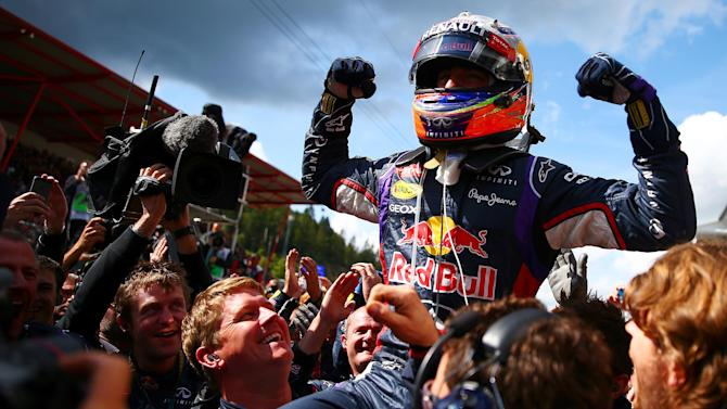 Belgian Grand Prix - Ricciardo wins in Spa after Rosberg clip ends Hamilton's race