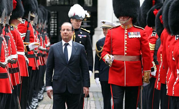 Prime Minister David Cameron Meets French President Francois Hollande