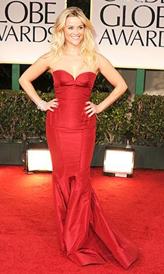 Reese Witherspoon Debuts Sexed-Up Look at 2012 Golden Globes