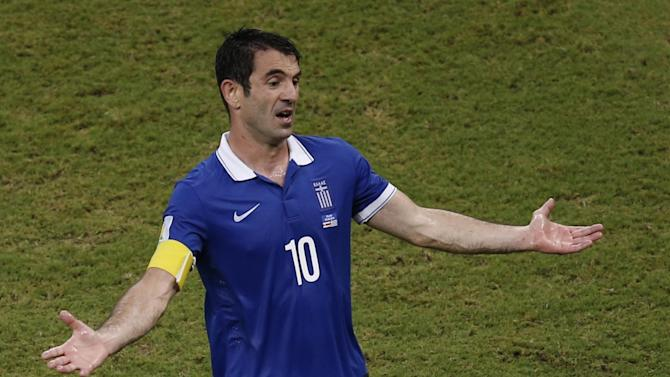 World Cup - Greece captain Karagounis bows out after 139 caps