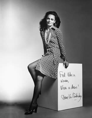 Diane von Furstenberg in her iconic wrap dress